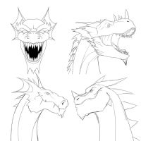Dragon Icon Options by Mattspaintings