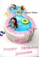swimming pool cake by Verusca