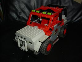 Lego Jurassic Park Jeep by OniPunisher