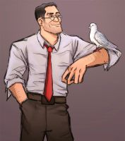 medic and his dove by Rinkuchan27