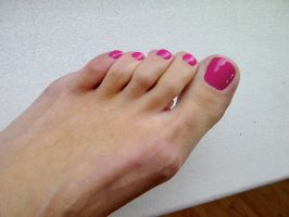 Rica's Sexy Toes in Pink by Feetatjoes