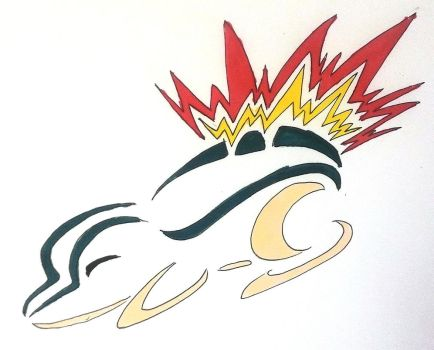 Cyndaquil tribal design by Eothnoguy