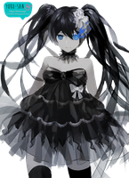 Black rock shooter by Momo-Honey
