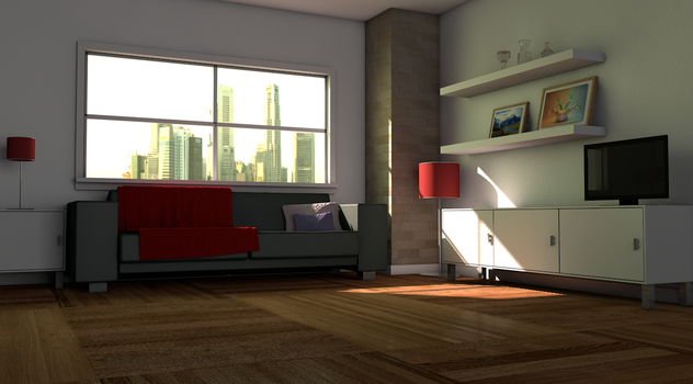 First Realistic room v1 by vavavoom00