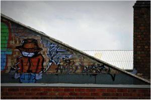 Leicester ,street graphiti. by Chrobal
