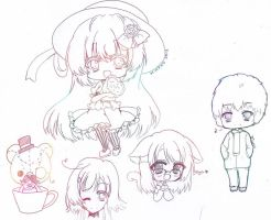 Random chibis and moar by H--neko