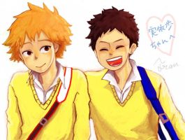 :OOFURI: Mihashi and Tajima by Fran-foxxx