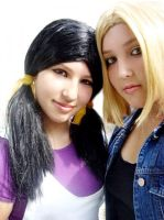Cosplay Android 18 and Videl by AndroideDezoito