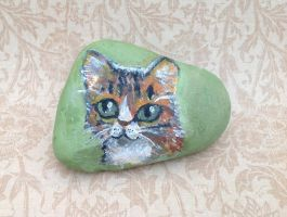 Cat Rock Painting by ForestGlade