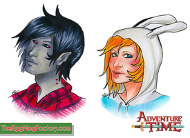 Adventure Time: Fiona and Marshall Lee - HeadShots by Pyratesque