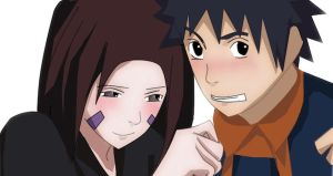 Obito and Rin by shadowkittyart