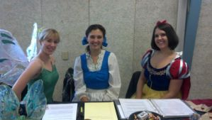 Tink, Belle, and Snow White by AriadneEvans