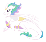 Dragonified Princess Celestia by QueenCold