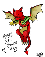 Welsh Dragon by Little-Voices