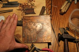 Copper Elephant work in progress (WIP) 2 by connerchristopher