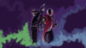 daft punk by dip-priest