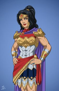 Queen Hippolyta (Earth-27) commission by phil-cho