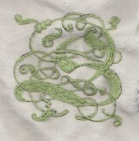Embroidered S by silvermoonsnake