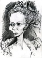 Tilda Swinton as the White Witch by Caricature80