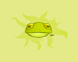 Noxious Frog-Head Wallpaper by verucasalt82