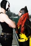 Batgirl - I'm not afraid Bane ! by Visual-Aurelie
