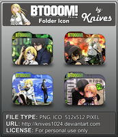 BTOOOM!!! Anime Folder Icon by Knives by knives1024