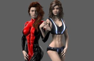 A|A The Heroines: Solaris and Sapphire by AriasAngels
