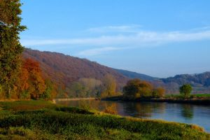 Weser in autumn by Dieffi
