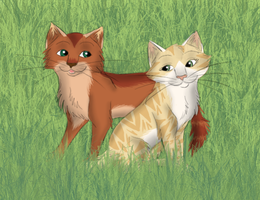Sandstorm and Fireheart by Perlenmond