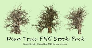 Dead Trees Pack PNG Stock by Roys-Art
