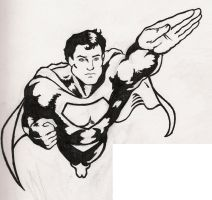 Superman t-shirt sketch by beastgrinder