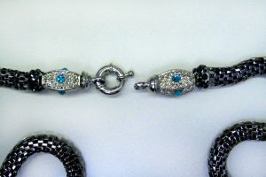 Jeweled Snake Chain Clasp by BenaeQuee