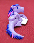 Twilight Sparkle clay dragon by HowManyDragons