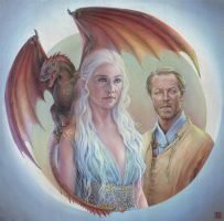 Daenerys and Jorah by Lei-Ren