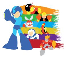 Megaman One Graphical Art Design by RedCaliburn