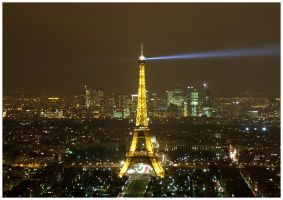 Paris from above at night - 2 by Andrei-Joldos