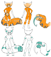 TailMouth Adoptable :: Batch One {UPDATE!} by QuirkyGiraffeAdopts