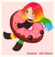 Donut Airlines by shiorimaster
