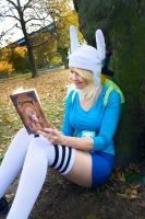 Fionna from adventure time : time to read by neoangelwink