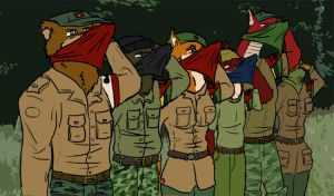Saluting guerrillas flatcolour by SteinWill