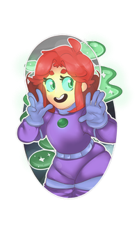 [Request~] Starfire in Space! by Captain-Sexay