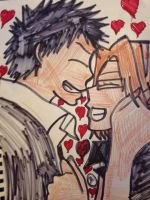 KHR both are feel in love and smile by Bluedragoncartoon