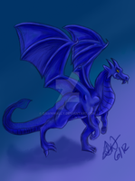 blue dragon by dawnwally