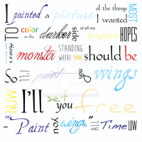 Typography: Paint You Wings [GD Project] by Oakfur422