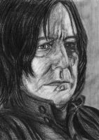 Snape Pencil Drawing by callmezippy
