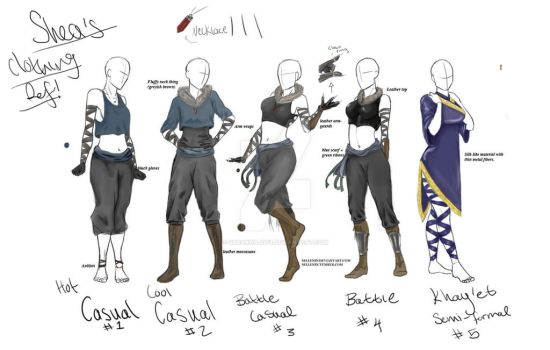 Shea Clothing Reference by Sheakhajiit9