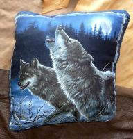 Wolf throw pillow by lupagreenwolf