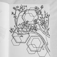 Branches and Hexagons  // pen doodle by MajesticPaula