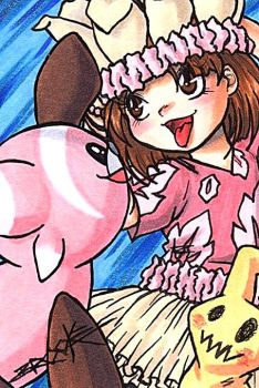 ACEO #197 - Tiny Trainer Kaida by SailorAlcyone