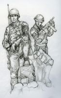 WWII soldiers by thermalknight